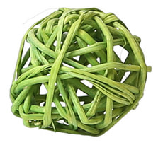 Rattan Bälle, lime grün 3cm, 5Stk.