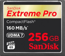 ExtremePro 160MB/s Compact Flash 256Go