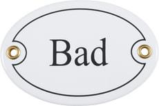 Panneau en émail Bad, oval