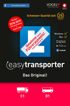 easytransporter 2018/19 Theorieprüfung [Kat. C1/D1] [PC/Mac] (D/F/I)