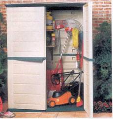 Kunststoff-Geräteschrank gross mit Doppeltüre (Tablare nicht inbegriffen)