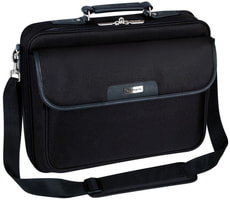 "Notepac Clamshell Case 15,6"" Notebooktasche - Schwarz"