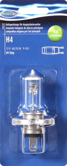Halogenlampe H4 Longlife