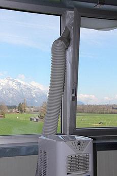 Joint de fenêtre pour climatiseurs mobile, blanc