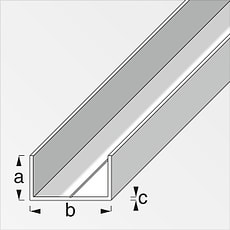 U-profilé rectangulaire 11.5 x 19.5 mm brut 1 m