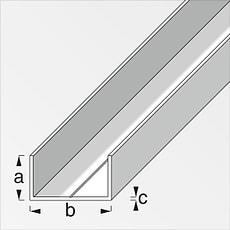 Rechteck-U 19,5 x 35,5 blank 1 m