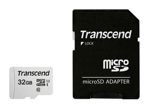 microSD Card 300S, 32GB SDHC inkl. Adaptateur