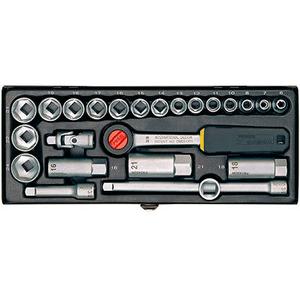 """Serie bussola compact 3/8"""" 24 pz"""