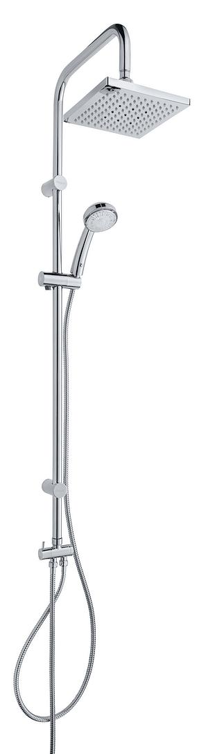 Sistema di doccia Titan LED cromato