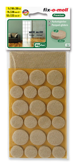Set Patins pour parquet 22 x 5 mm /  22 x