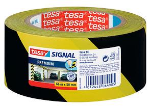 SIGNAL Premium Ruban de sécurisation et de délimitation, noir/jaune, 66mx50mm