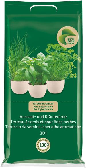 Terriccio da semina e per erbe aromatiche, 10 l