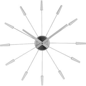 Horloge murale Plug Inn Diamètre Argent