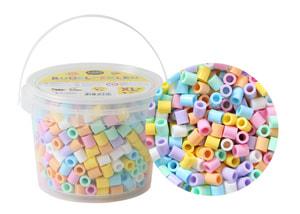 Bügelperlen XL, 600 Stk., Pastell Mix