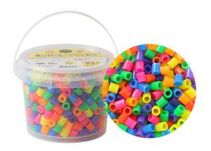 Bügelperlen XL, 600 Stk., Neon Mix