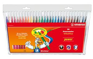 Pennarello STABILO® power, 30 pennarelli