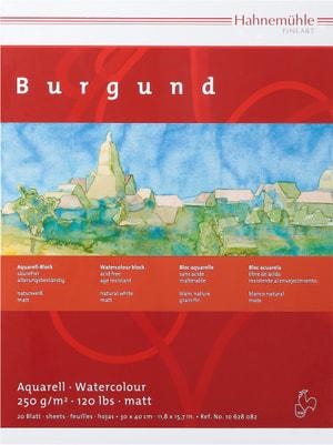 Hahnemühle Burgund Bloc aquarelle 30x40