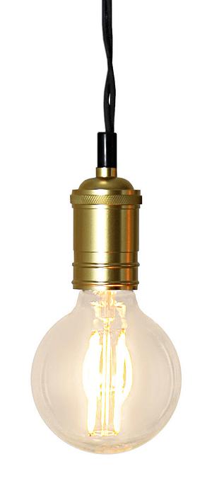 Cavo lampada con attacco in dorata