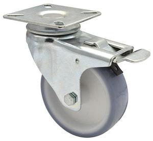 Ruota orientabile D75 mm con fermo