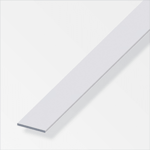 Flachstange 2 x 30 mm silberfarben 2 m