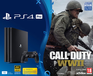 PS4 Pro 1TB Call of Duty: WWII (D) Bundle