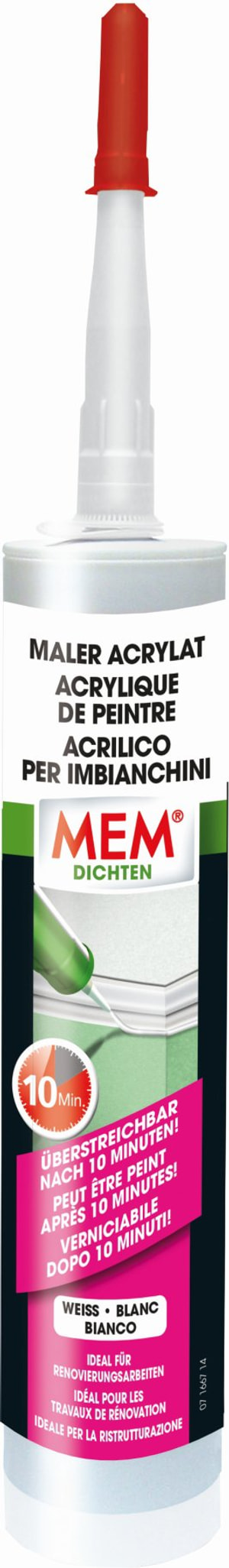 Maler-Acryl weiss, 300 ml