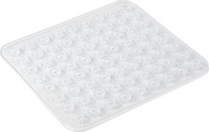 Fond d'évier Kristall rectangulaire transparent