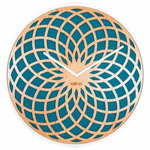 Horloge murale Soleil petite Turquoise Durchme
