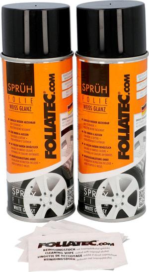 Film spray blanc brillant 400 ml 2pcs