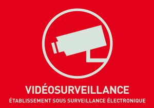 Warnaufkleber Videoüberwachung (französisch)