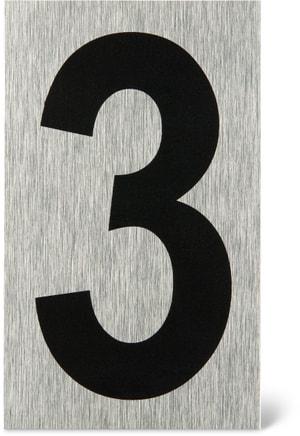 Türschild Zahl 3