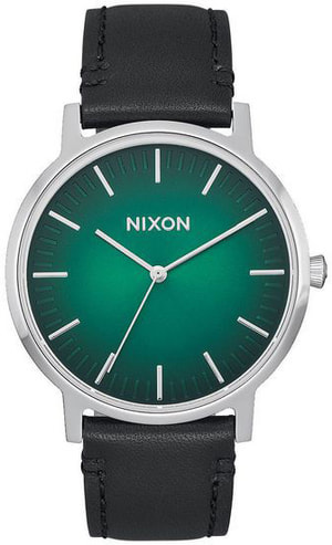 Porter Leather Green Ombre Black 40 mm