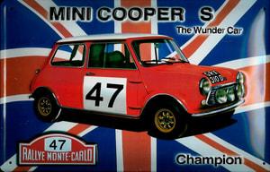 Werbe-Blechschild Mini Cooper