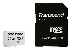 microSD Card 300S, 64GB SDXC inkl. Adaptateur