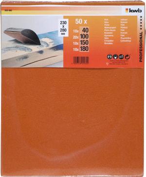 Carta abrasiva flint assortito, 50 pz.