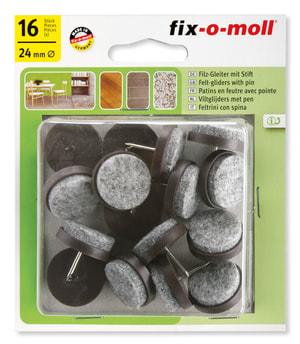 Patins de feutre avec clou 4 mm / Ø 24 mm 16 x