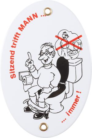 Insegna in email Männer-Toiletten-Gebot