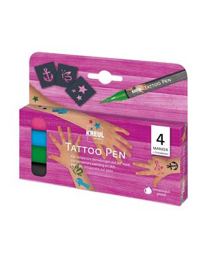 KREUL, tattoo pen ancre et étoile, set de 4