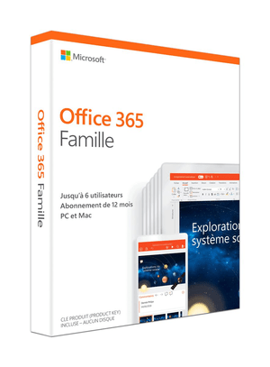Office 365 Famille 2019 PC/Mac (F)