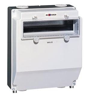 Cassetta di distribuzione AP 310x260mm confinestra exec.inclinato