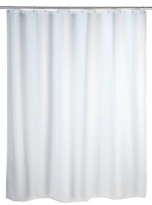 Rideau de douche blanc anti-moisissure
