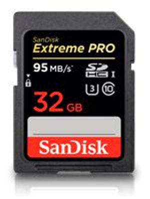 Extreme Pro 95MB/s SDHC 32GB