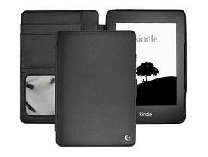 Leder-Schutzhülle für Kindle Paperwhite, schwarz