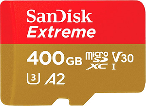 Extreme 160MB/s microSDXC 400Go