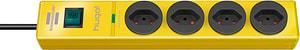 Steckdosenleiste hugo! 4fach gelb