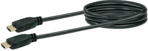 Kabel HDMI Highspeed 0.2m schwarz