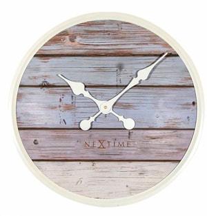 Horloge murale Plank Grey 50 cm de diamètre