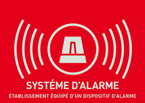 Autocollant télésurveillance (français)