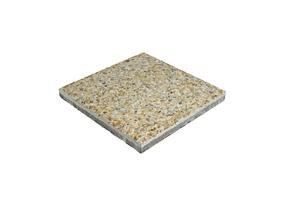 Gehwegplatten Waschbeton gelb 50 x 50 cm