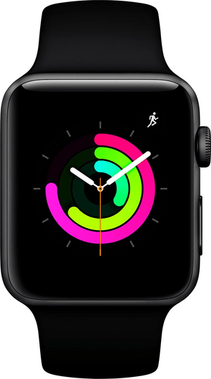 Watch Series3 GPS 42mm Space Grey Aluminium Case with Black Sport Band